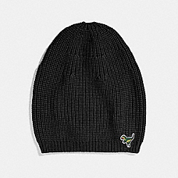 KNIT REXY HAT - BLACK - COACH 34258
