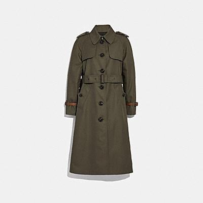 코튼 트렌치 코트