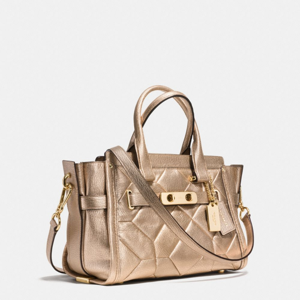 Coach Swagger 27 in Metallic Patchwork Leather - Alternate View A2