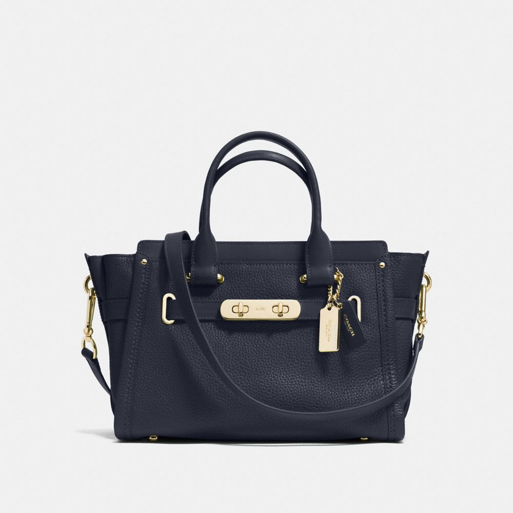 COACH SWAGGER CARRYALL 27 IN PEBBLE LEATHER - Alternate View