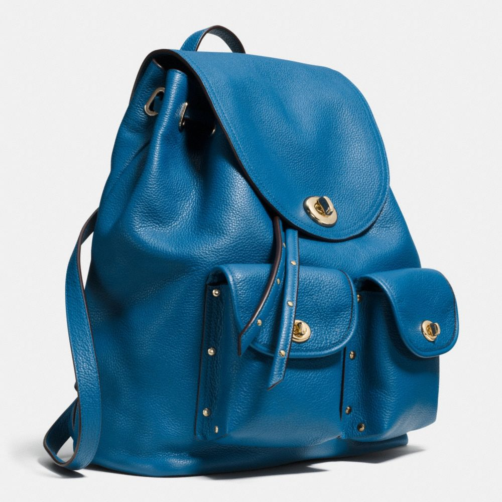 TURNLOCK TIE RUCKSACK IN REFINED PEBBLE LEATHER - Alternate View A2