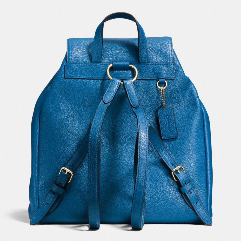 TURNLOCK TIE RUCKSACK IN REFINED PEBBLE LEATHER - Alternate View A3