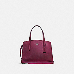 CHARLIE CARRYALL 28 - METALLIC BERRY MULTI/GUNMETAL - COACH 35515