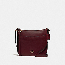 CHAISE CROSSBODY - GD/OXBLOOD - COACH 35543