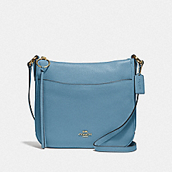 CHAISE CROSSBODY - GD/PACIFIC BLUE - COACH 35543