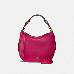 SUTTON HOBO - BRIGHT CHERRY/GOLD - COACH 35593