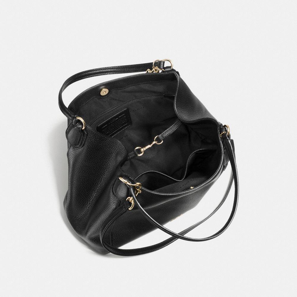 Edie Shoulder Bag 28 in Pebble Leather - Alternate View A3