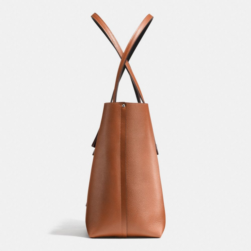 MARKET TOTE IN REFINED PEBBLE LEATHER - Alternate View