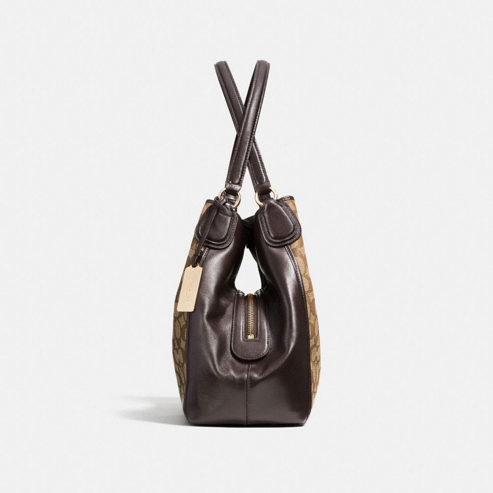 Edie Shoulder Bag 31 in Signature Jacquard - Alternate View A1