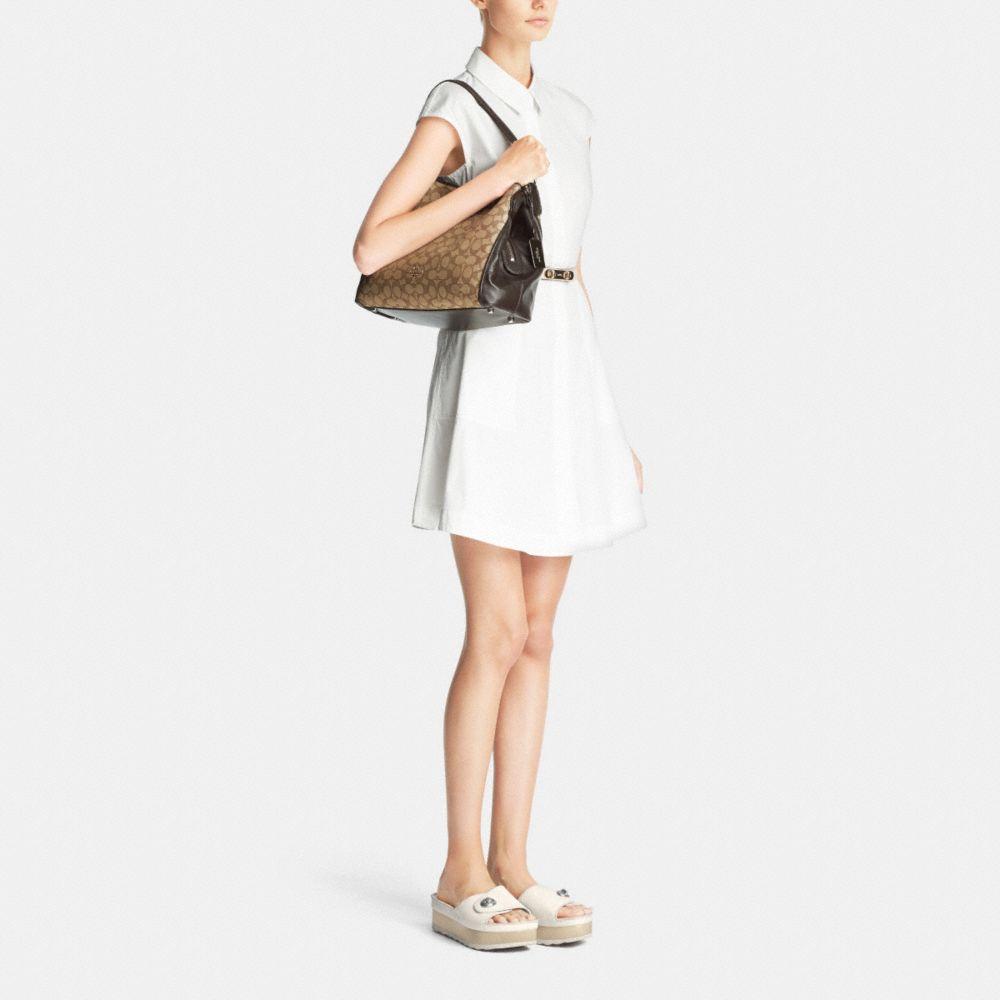 Edie Shoulder Bag 31 in Signature Jacquard - Alternate View M