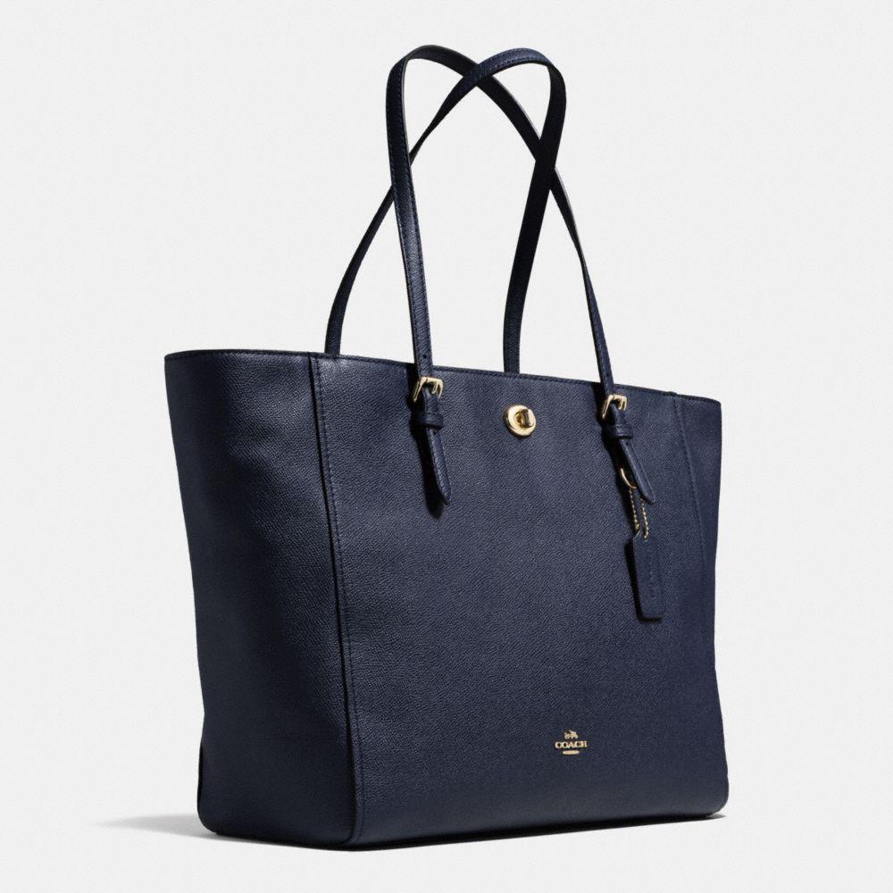 Turnlock Baby Bag in Crossgrain Leather - Alternate View A2
