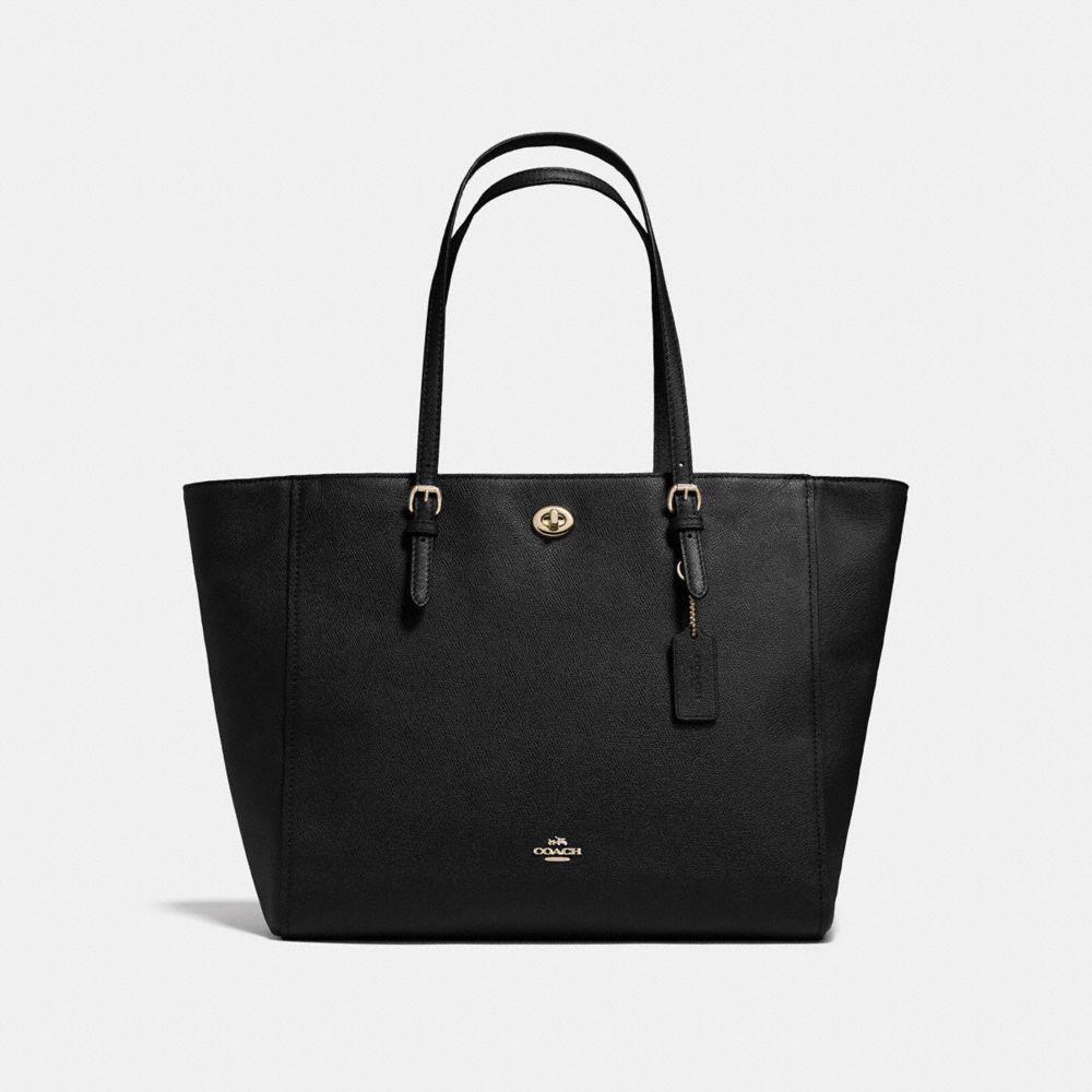 Turnlock Baby Bag in Crossgrain Leather