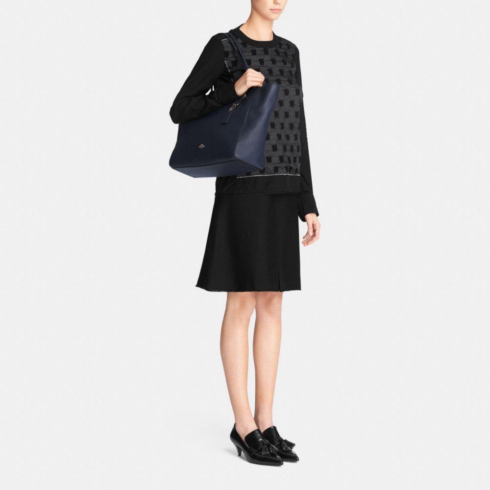 Turnlock Baby Bag in Crossgrain Leather - Alternate View M1