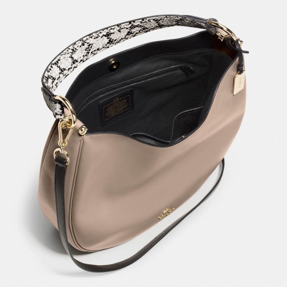 Coach Nomad Hobo in Colorblock Exotic Embossed Leather - Alternate View A3