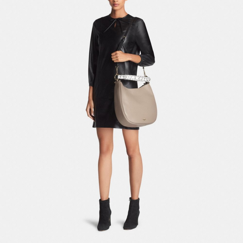Coach Nomad Hobo in Colorblock Exotic Embossed Leather - Alternate View M1