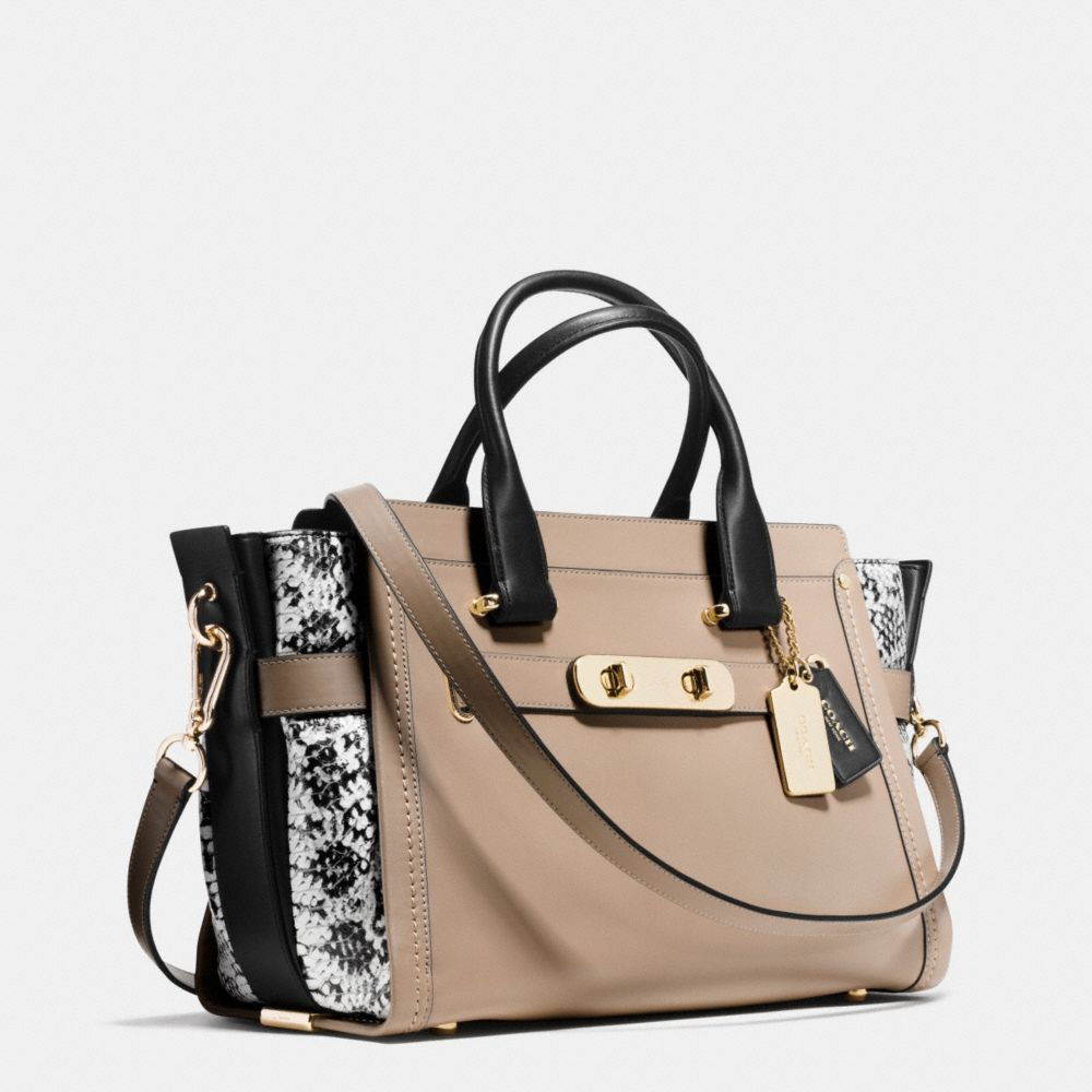 Coach Swagger in Colorblock Exotic Embossed Leather - Alternate View A2