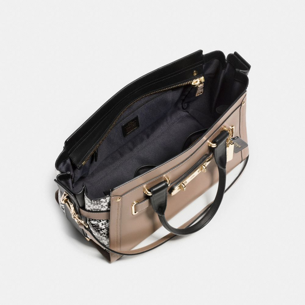 Coach Swagger in Colorblock Exotic Embossed Leather - Alternate View A3
