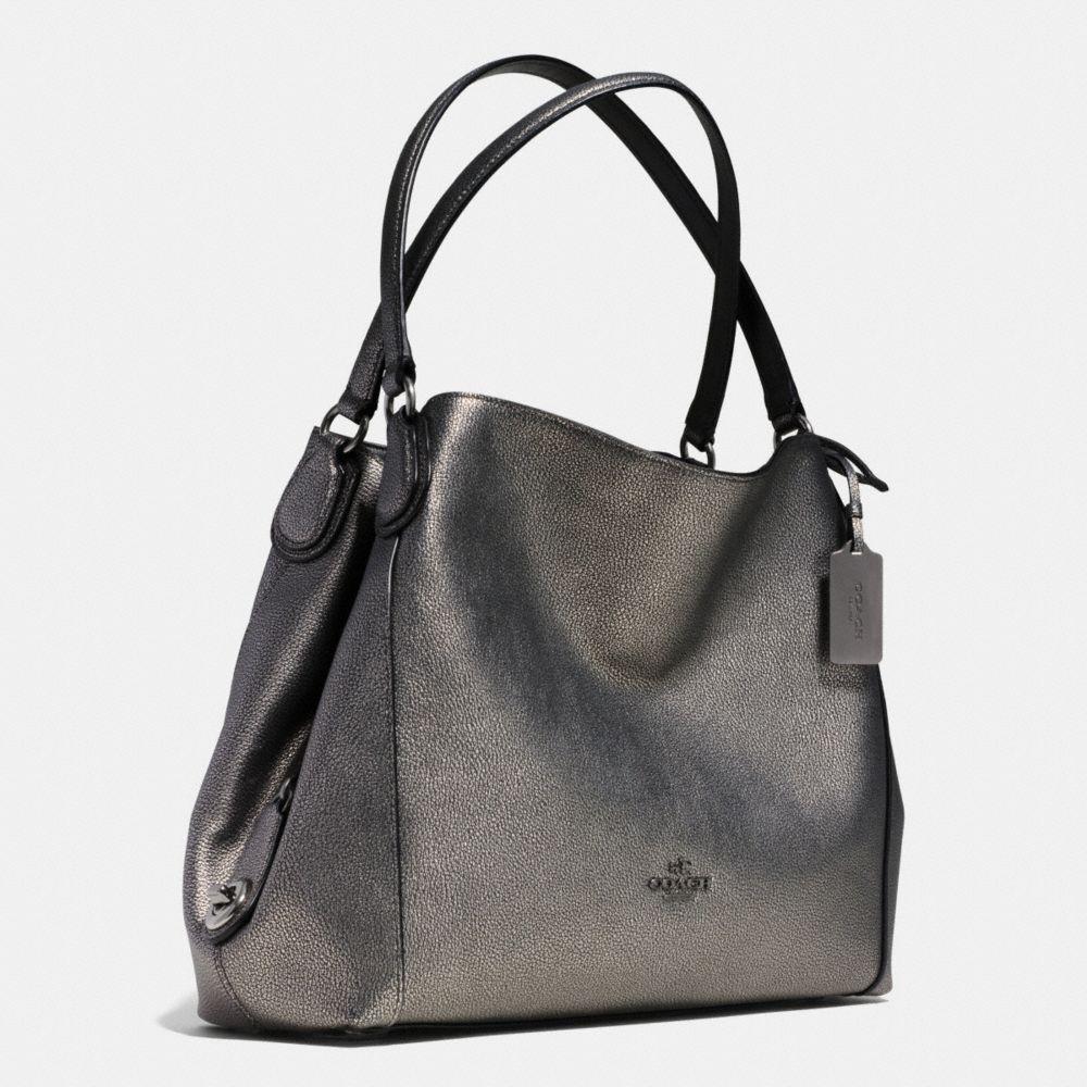 Edie Shoulder Bag 31 in Metallic Pebble Leather - Alternate View A2