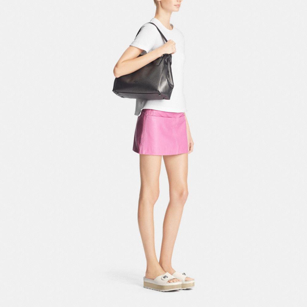 Edie Shoulder Bag 31 in Metallic Pebble Leather - Alternate View M