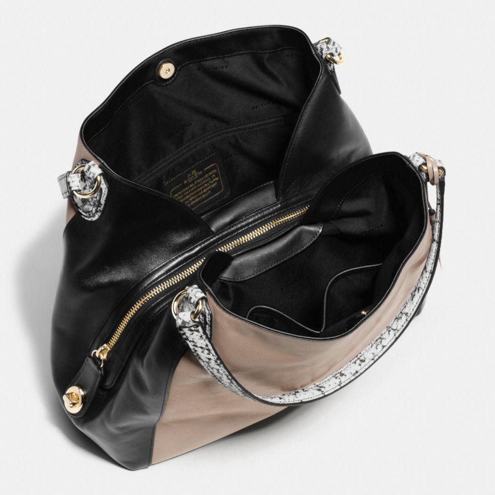 Edie Shoulder Bag 31 in Colorblock Exotic Embossed Leather - Alternate View A3