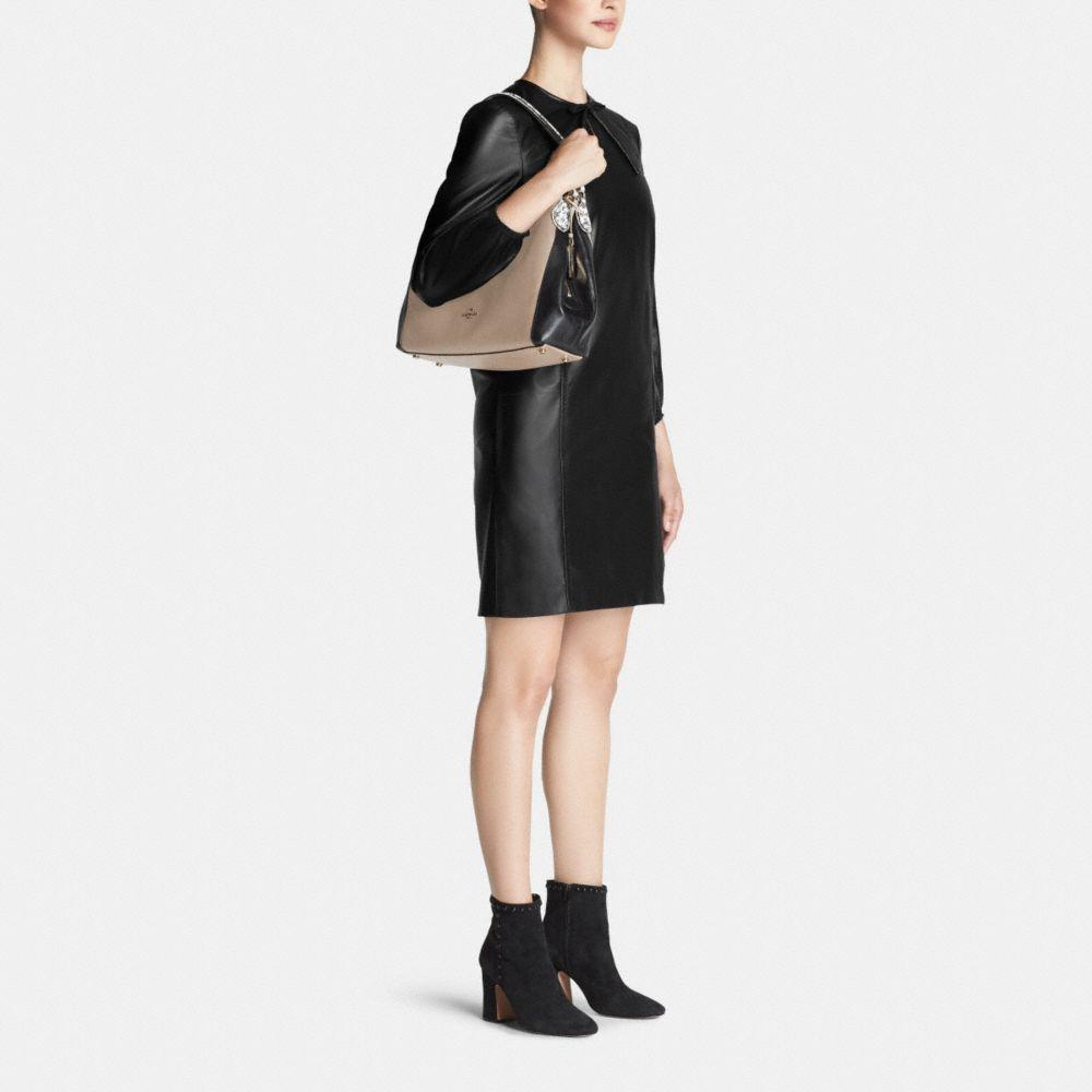 Edie Shoulder Bag 31 in Colorblock Exotic Embossed Leather - Alternate View M