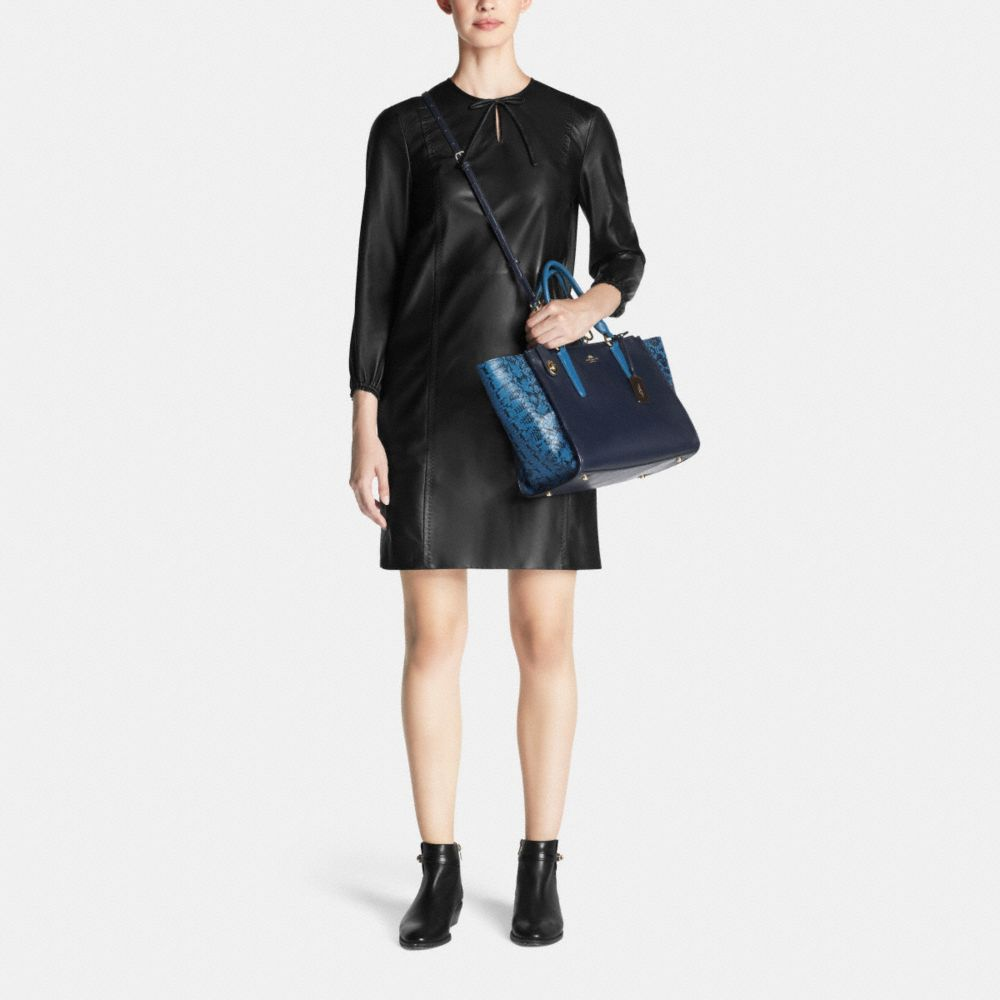 Crosby Carryall in Colorblock Exotic Embossed Leather - Alternate View M