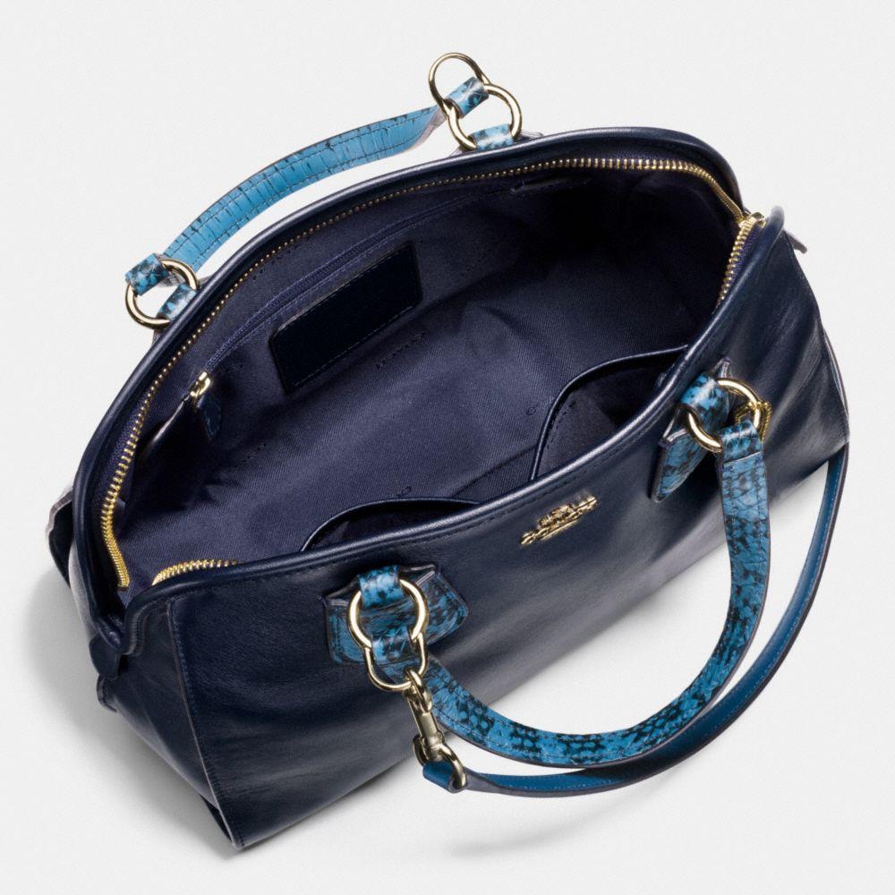 Nolita Satchel in Colorblock Exotic Embossed Leather - Alternate View A3