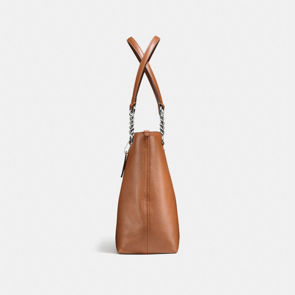 SOPHIA TOTE IN POLISHED PEBBLE LEATHER - Alternate View