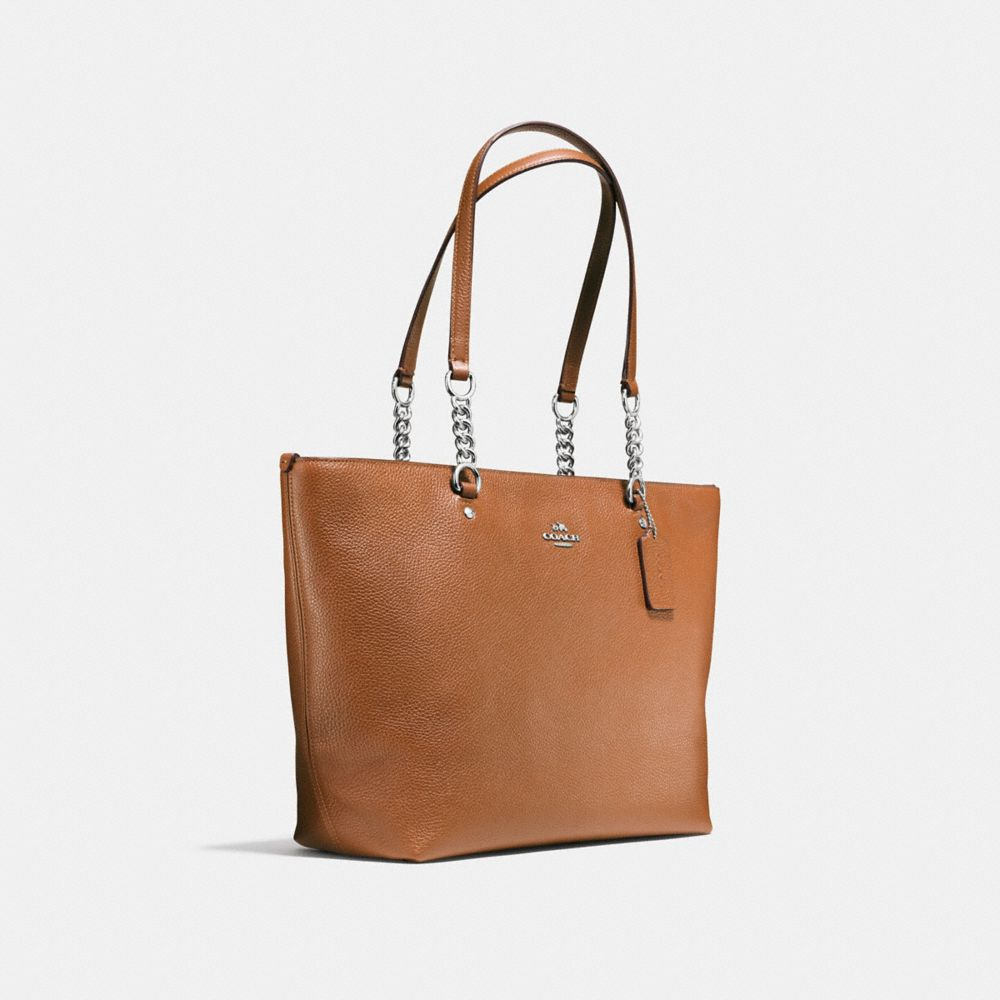 Sophia Tote in Polished Pebble Leather - Alternate View A2