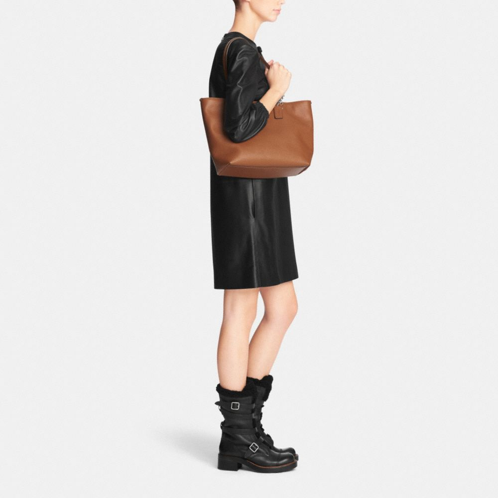 Sophia Tote in Polished Pebble Leather - Alternate View M1