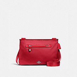 SMALL CROSSBODY - SV/TRUE RED - COACH 36707