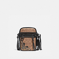 DYLAN 10 IN SIGNATURE CANVAS WITH TATTOO - BLACK/KHAKI/MATTE BLACK - COACH 36714