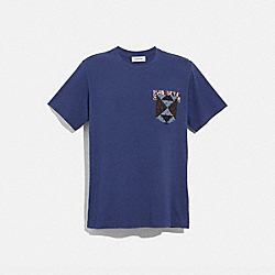 PATCHWORK BANDANA T-SHIRT - NAVY - COACH 36730