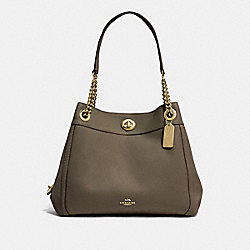 TURNLOCK EDIE SHOULDER BAG - GD/MOSS - COACH 36855