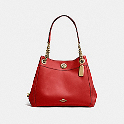 TURNLOCK EDIE SHOULDER BAG - LI/JASPER - COACH 36855