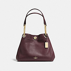 TURNLOCK EDIE SHOULDER BAG - LI/OXBLOOD - COACH 36855