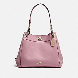 TURNLOCK EDIE SHOULDER BAG - LI/ROSE - COACH 36855