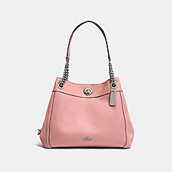 TURNLOCK EDIE SHOULDER BAG - SV/PEONY - COACH 36855
