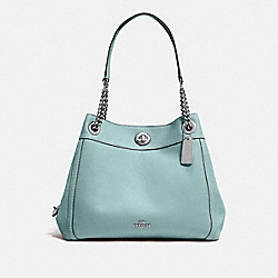 TURNLOCK EDIE SHOULDER BAG - SV/SAGE - COACH 36855