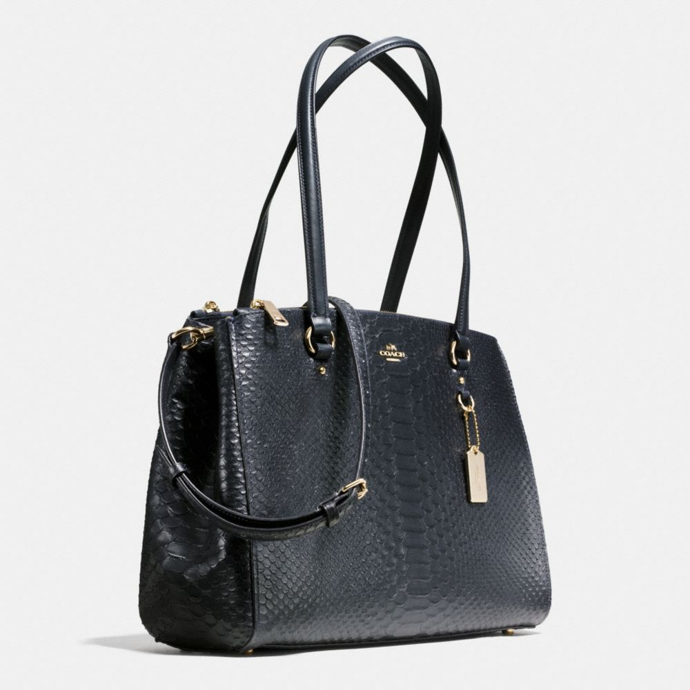 STANTON CARRYALL IN STAMPED SNAKESKIN LEATHER - Alternate View A2