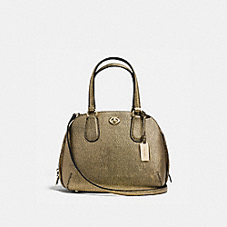 PRINCE STREET MINI SATCHEL IN METALLIC PEBBLE LEATHER - LI/GOLD - COACH 36987