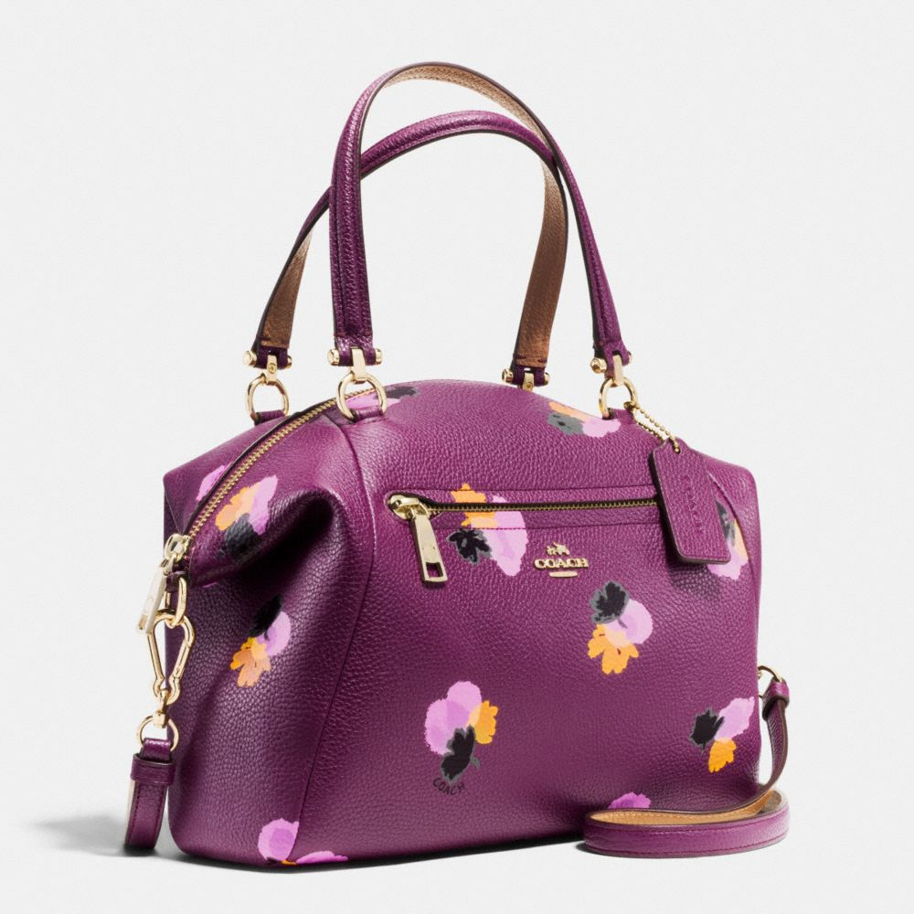 PRAIRIE SATCHEL IN FLORAL PRINT LEATHER - Alternate View A2