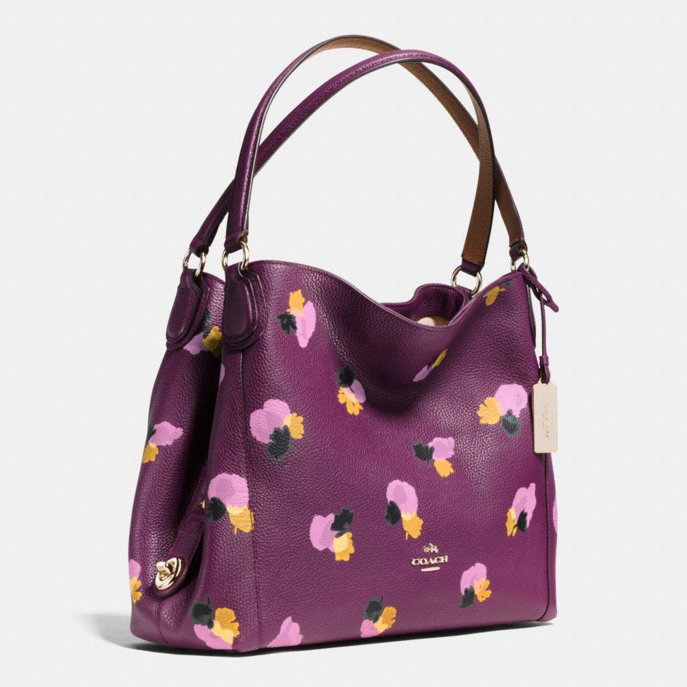 Edie Shoulder Bag 31 in Floral Print Leather - Alternate View A2