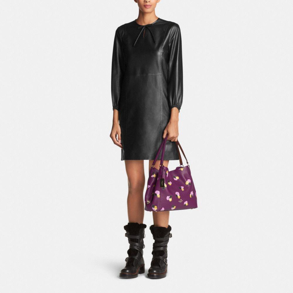 Edie Shoulder Bag 31 in Floral Print Leather - Alternate View M