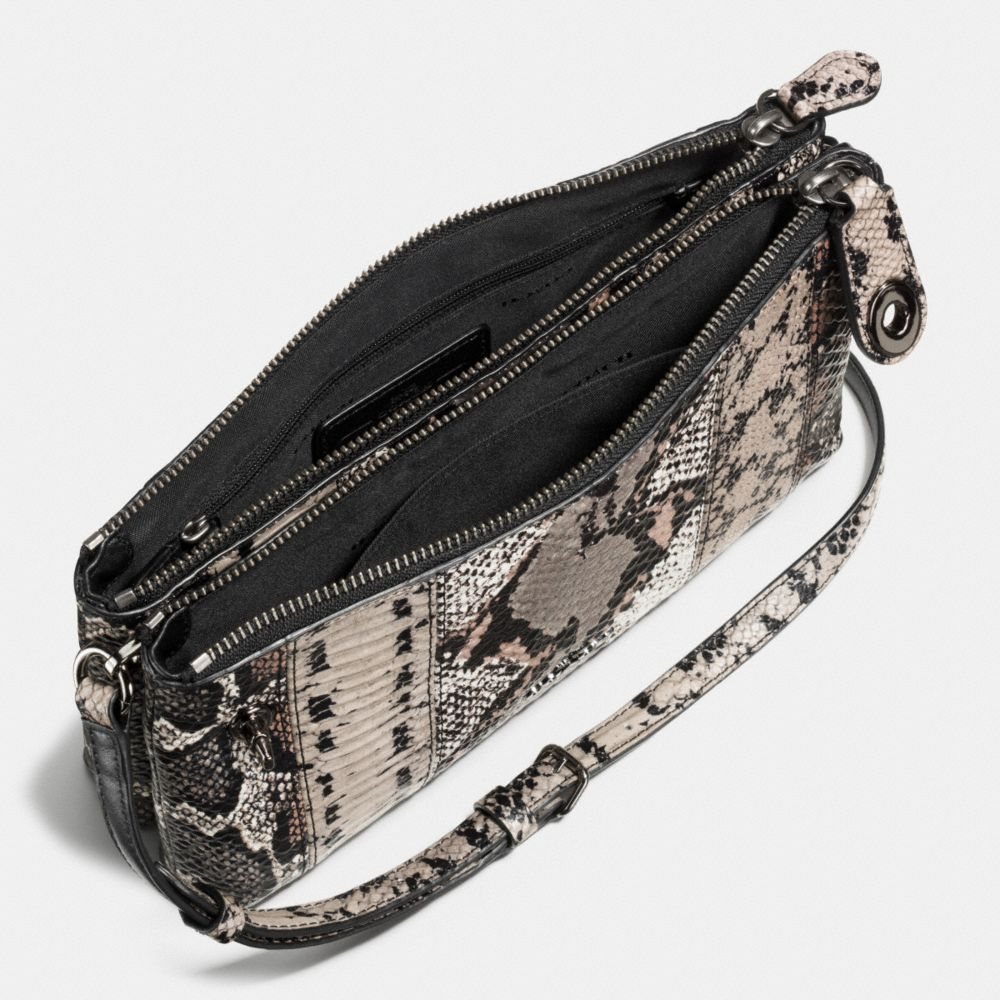 Crosby Crossbody in Pieced Exotic Embossed Leather - Alternate View A1