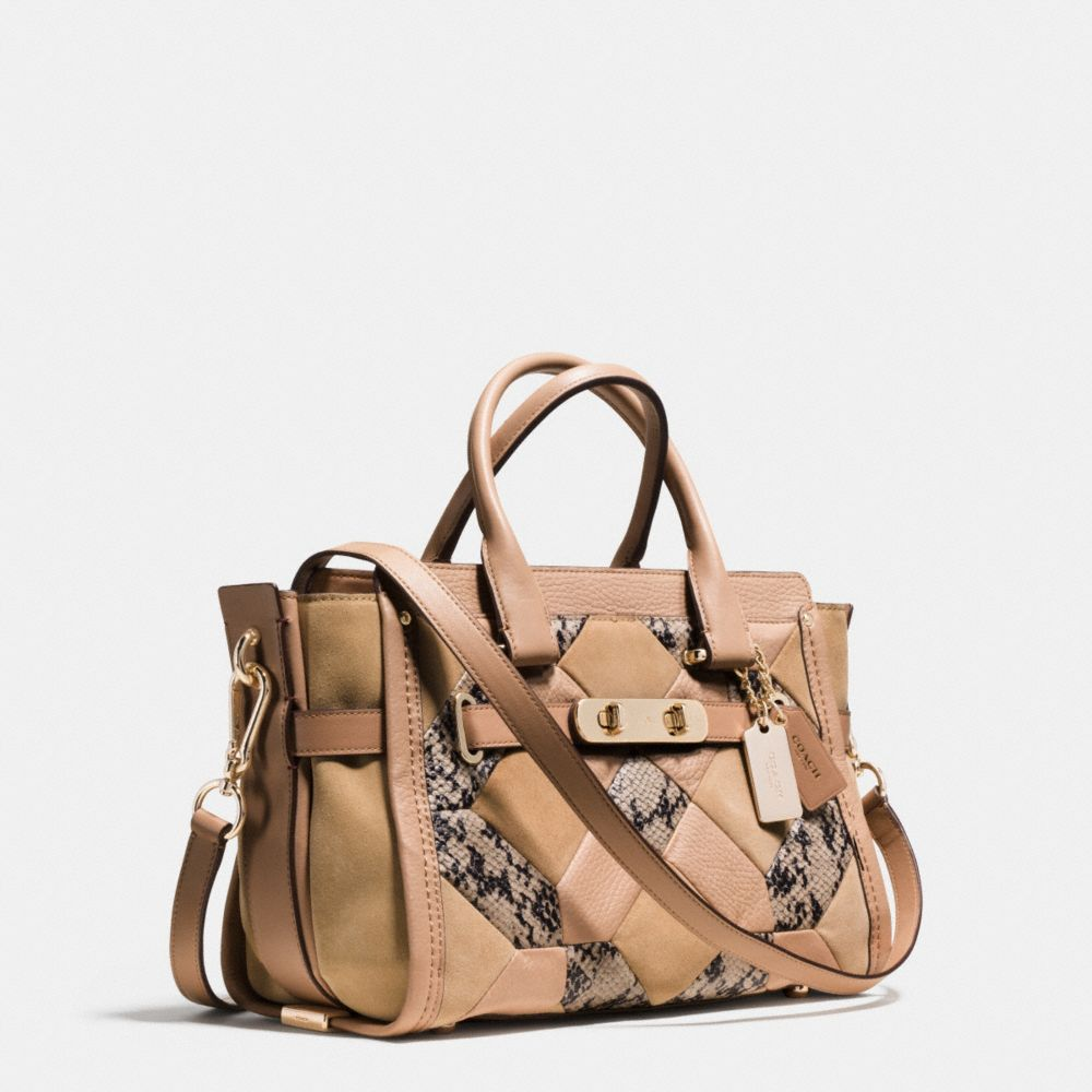 Coach Swagger 27 in Patchwork Exotic Embossed Leather - Alternate View A2