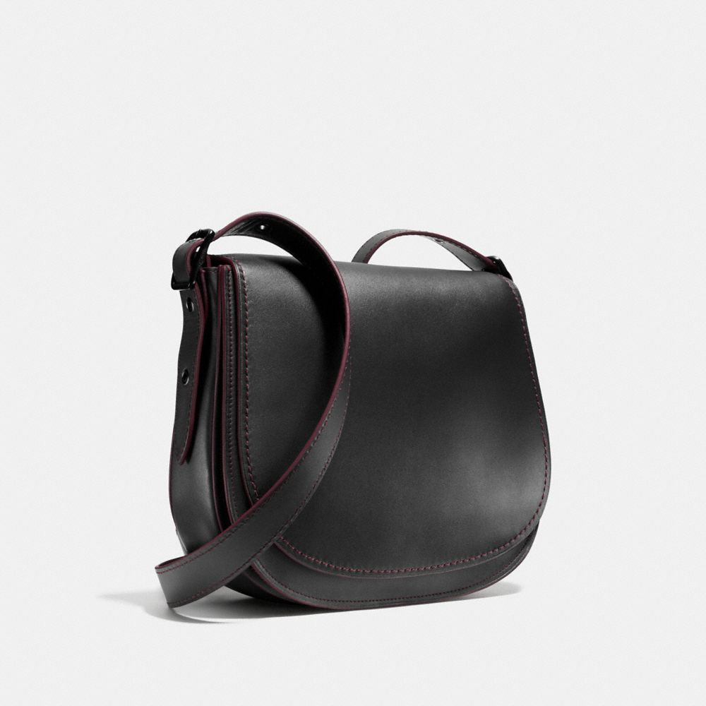 SADDLE BAG IN GLOVETANNED LEATHER - Alternate View A3