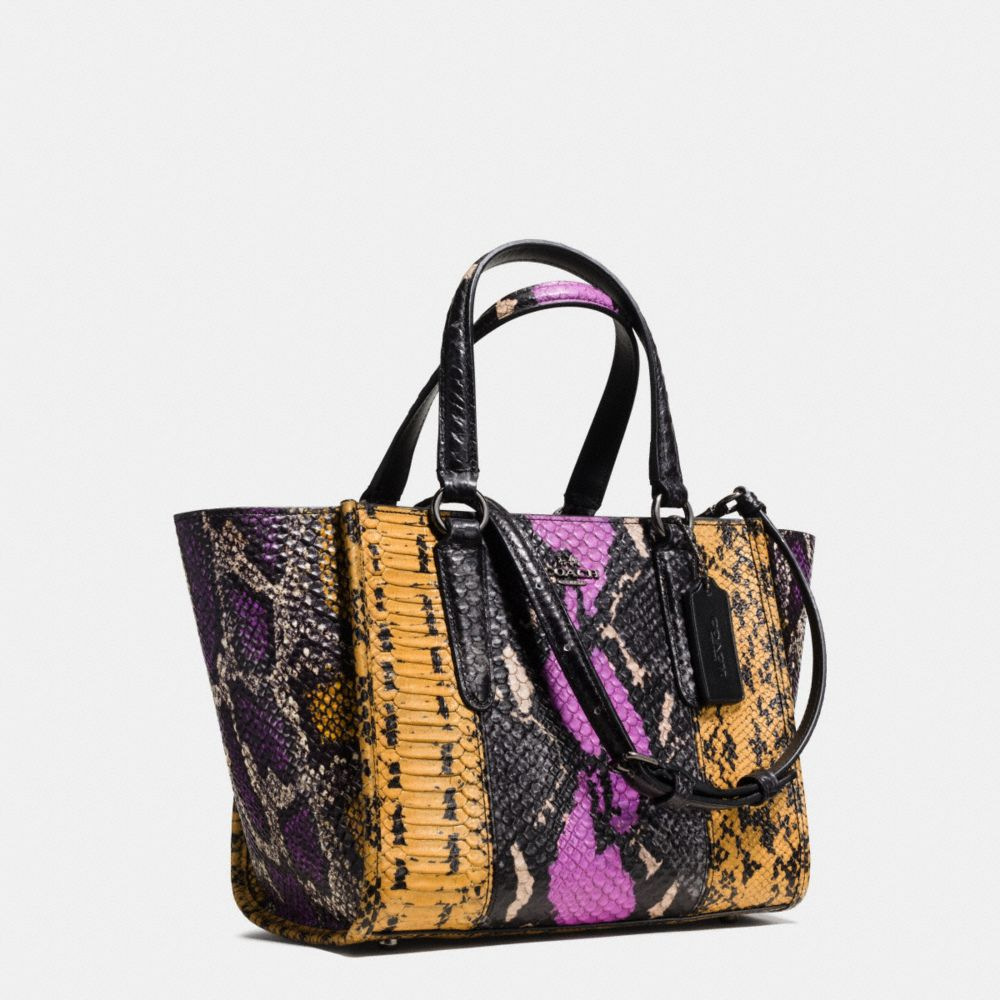 Mini Crosby Carryall in Pieced Exotic Embossed Leather - Alternate View A2