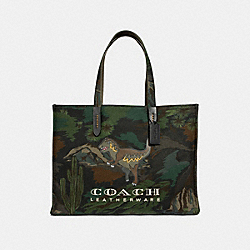 TOTE 42 WITH LANDSCAPE PRINT - MW/BLACK - COACH 37329