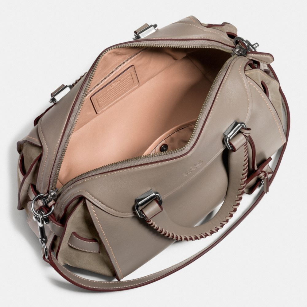 Ace Satchel in Glovetanned Leather and Suede - Alternate View A3